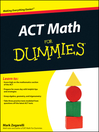 ACT Math For Dummies (eBook)